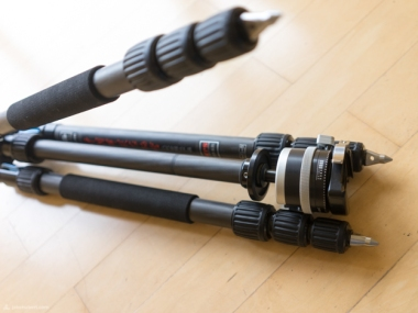 With the SIRUI tripod and the right ballhead, the flip upside-down making the total folded size much smaller than alternatives.
